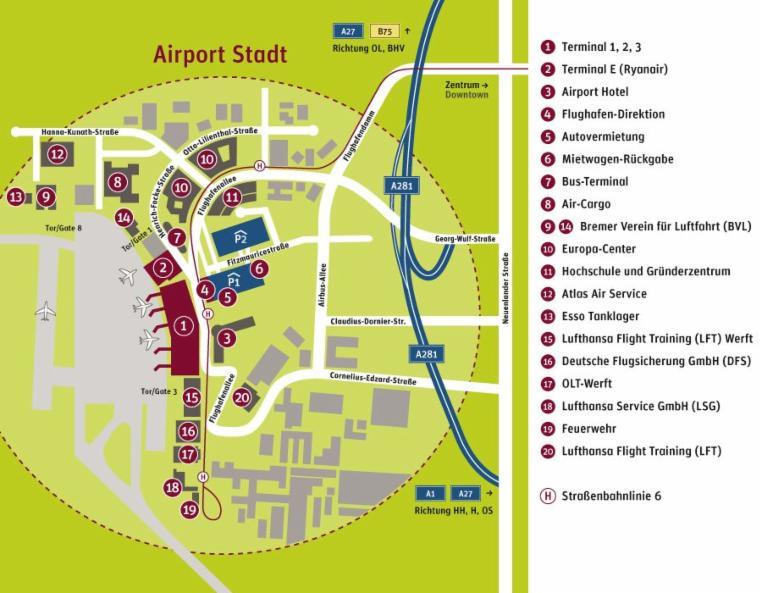 flughafen bremen karte Lageplan Flughafen Bremen   Arbeitskreis Instandhaltung